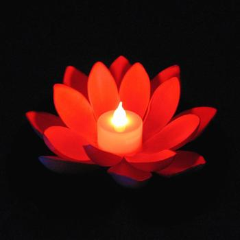 Popular Artificial LED Candle Floating Lotus Flower With Colorful Changed Lights For Birthday Wedding Party Decorations Supplies