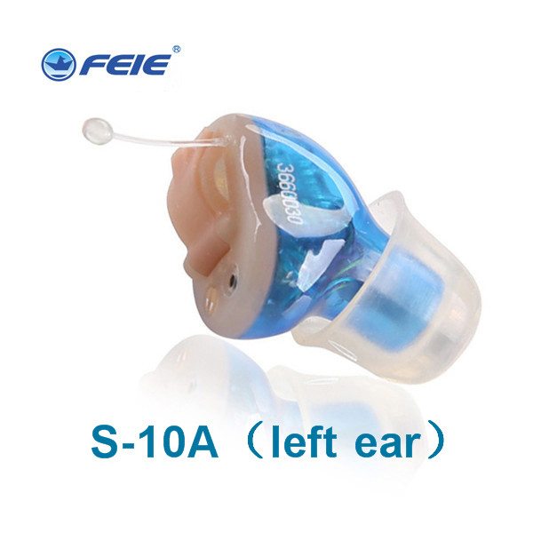 Feie New Ear Care Product 2017 Dgital Hearing Aid Invisible CIC Mini Sound Amplifier S-10A for Left Ear