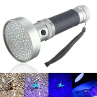 100 led uvウルトラバイオレットポータブル紫外線ブラックライトサソリ懐中電灯検出器ランプ光トーチ防水懐中電灯