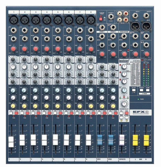 US $205 0  Free Shipping High Quality EFX8 Live Sound Mixer 8 Mono + 2  Stereo ch Mixer with Built in 24 bit Lexicon Effects for hot selling-in  Home