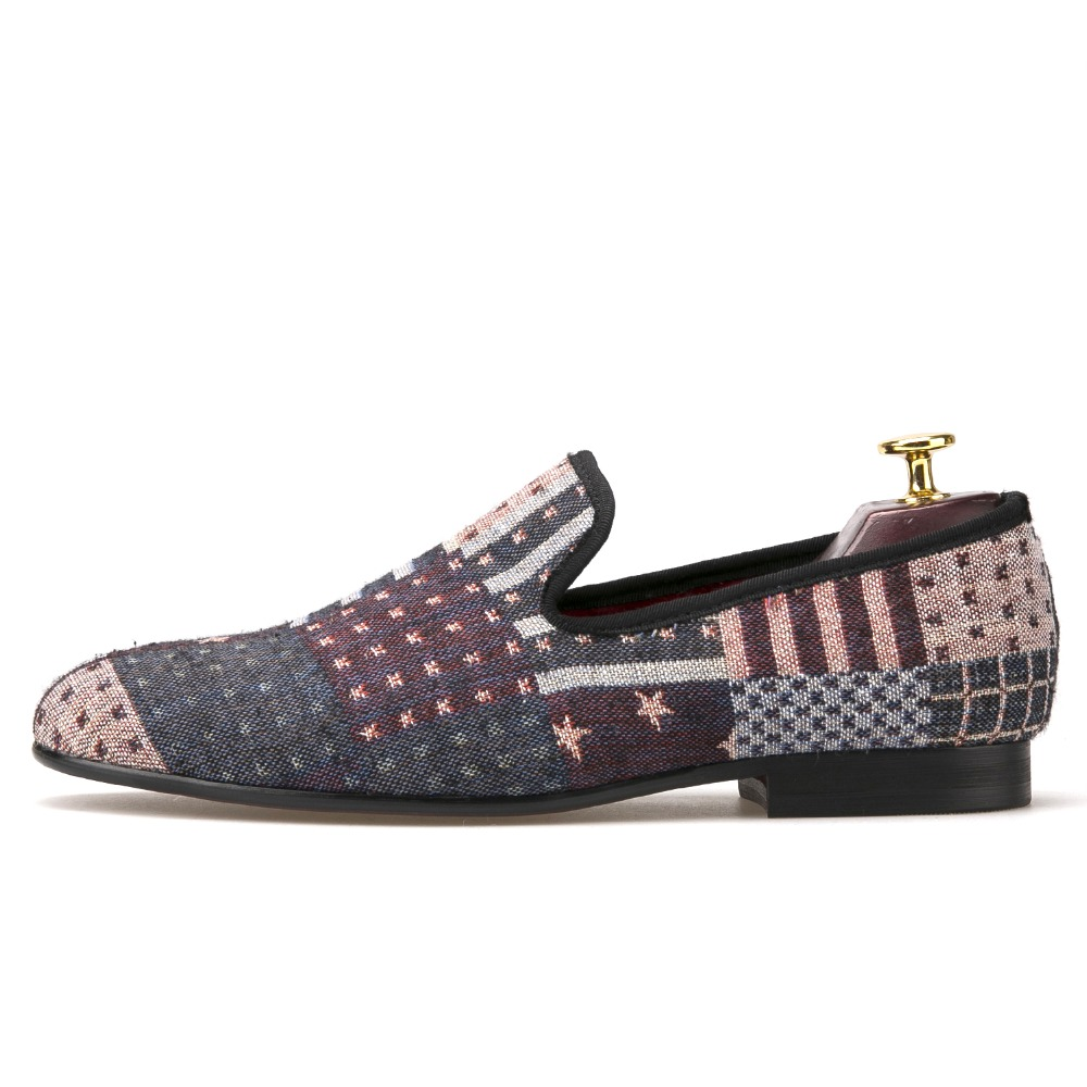 New American flag men's knit fabric Europe and the United States ethnic style low flow shoelamp shoes lazy shoes europe and the united states popular bar chairs wholesale and retail australian fashion coffee stool free shipping
