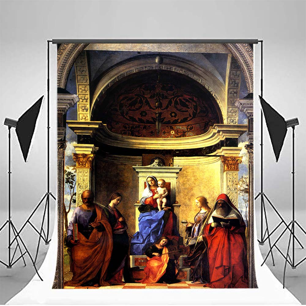 Mehofoto First Holy Communion Backdrops for Photography Baby Shower Bible Grail Photo Booth Backgrounds Studio Palace MW-335