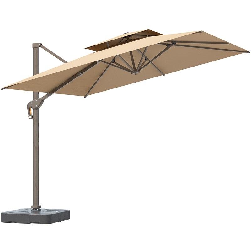 Terrace Umbrella Roman Umbrella Booth Big Sun Umbrella Outdoor Terrace Garden Safety Umbrella