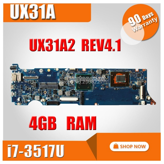 I7-3517U CPU 4G RAM rev4.1 UX31A motherboard For ASUS UX31A UX31A2 Laptop motherboard UX31A UX31A mainboard Test motherboard все цены