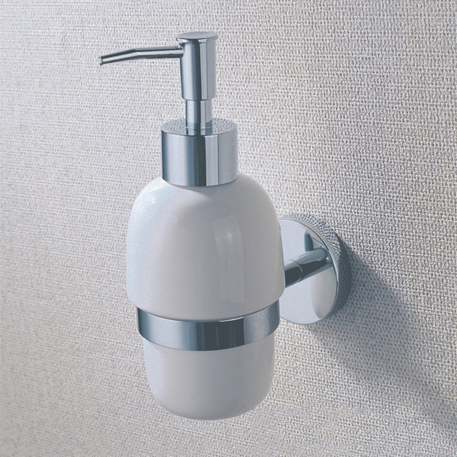 Ceramic Detergent Liquid Soap Dispenser Holder Wall Mounted White ...
