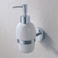 Gốm Chất Tẩy Rửa Lỏng Xà Phòng Chủ Treo Tường Đồng Thau Trắng Rửa Tay Tắm Dầu Gội Chrome Tắm Kit Phụ Kiện