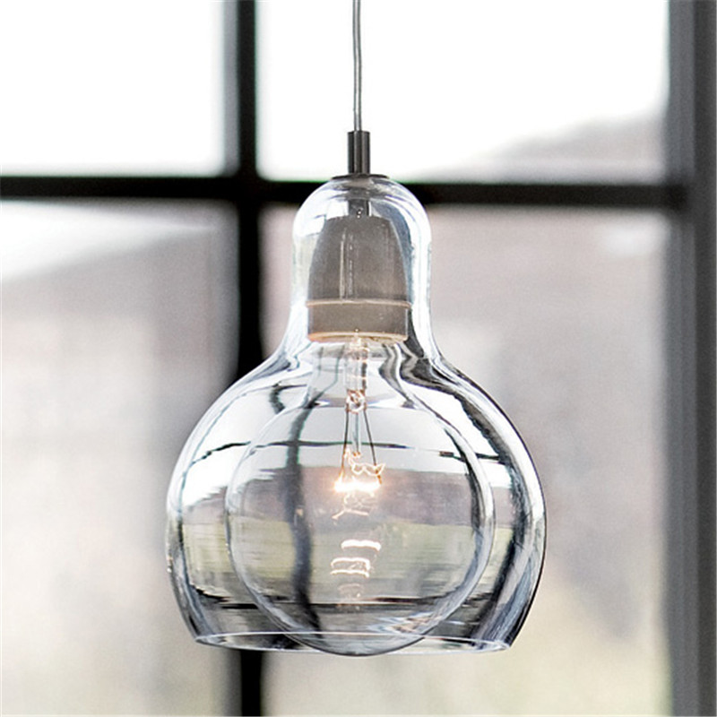 Modern Led Light Fixtures AmberTransparent Clear Glass Pendant - Modern glass pendants kitchen
