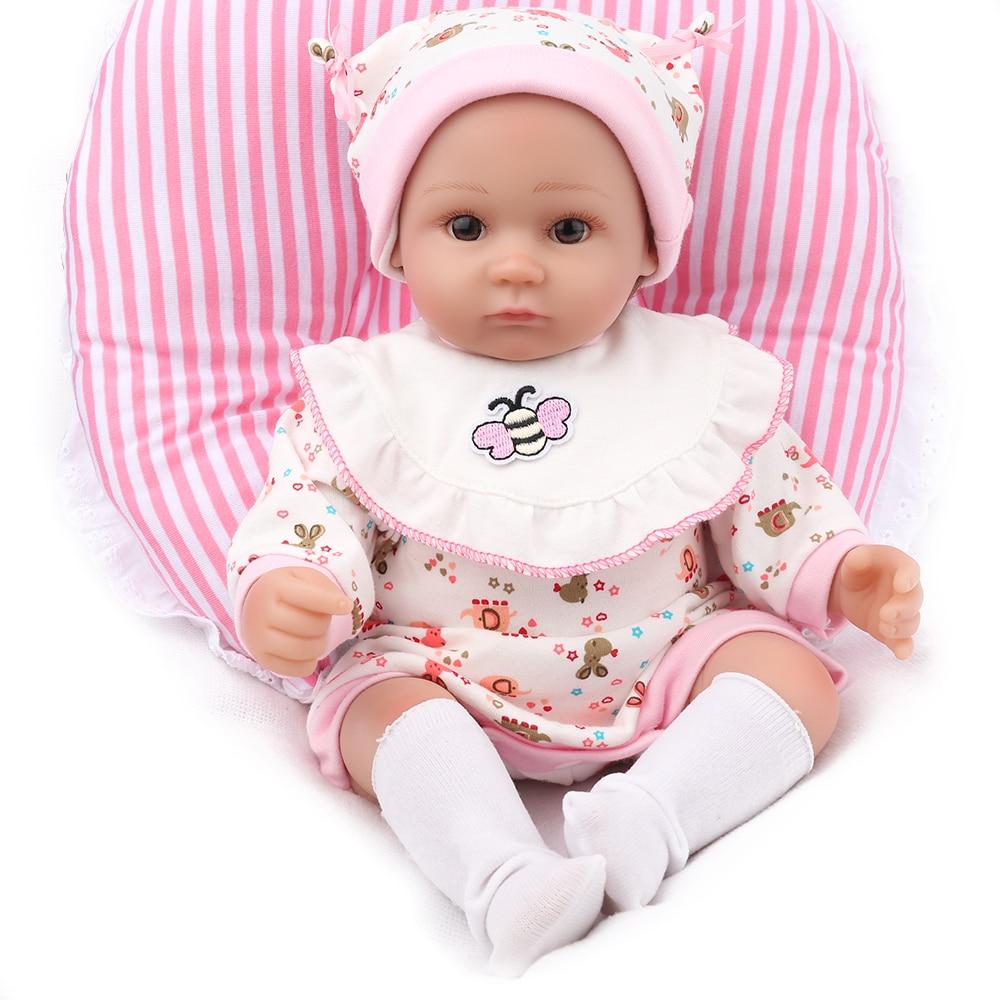 цена NPK DOLL Reborn Baby Pink lifelike Realistic Newborn Babe Boneca Soft Silicone cloth Body Christmas Gift for Girls Boys Kids