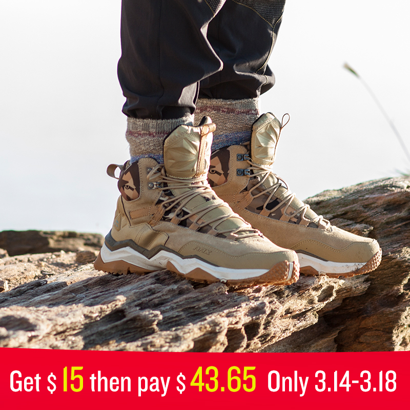 Rax hombres impermeable Zapatillas de senderismo antideslizante montaña escalada sneakers mujer Trekking al aire libre Zapatos ligero piel transpirable