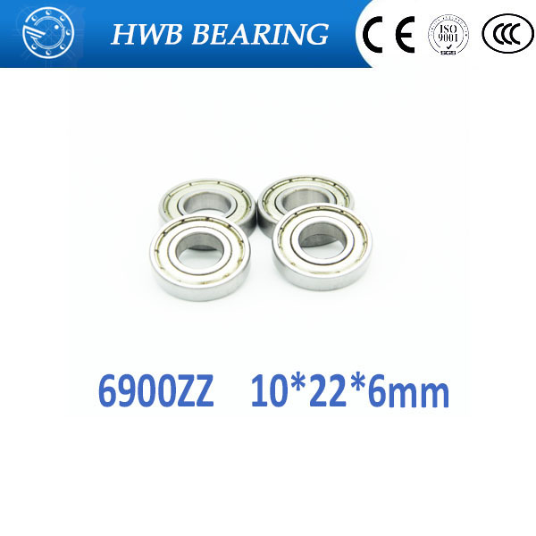 цены Free shipping 10PCS 6900ZZ 10*22*6 mm 61900 zz bearings thin wall deep groove ball bearings 6900 zz Chrome Steel bearing