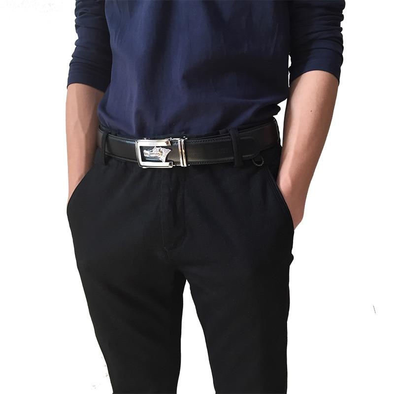 CETIRI Timsah Kemer Toka Cırcır Dana Hakiki Deri Kemerler Erkekler - Elbise aksesuarları - Fotoğraf 3