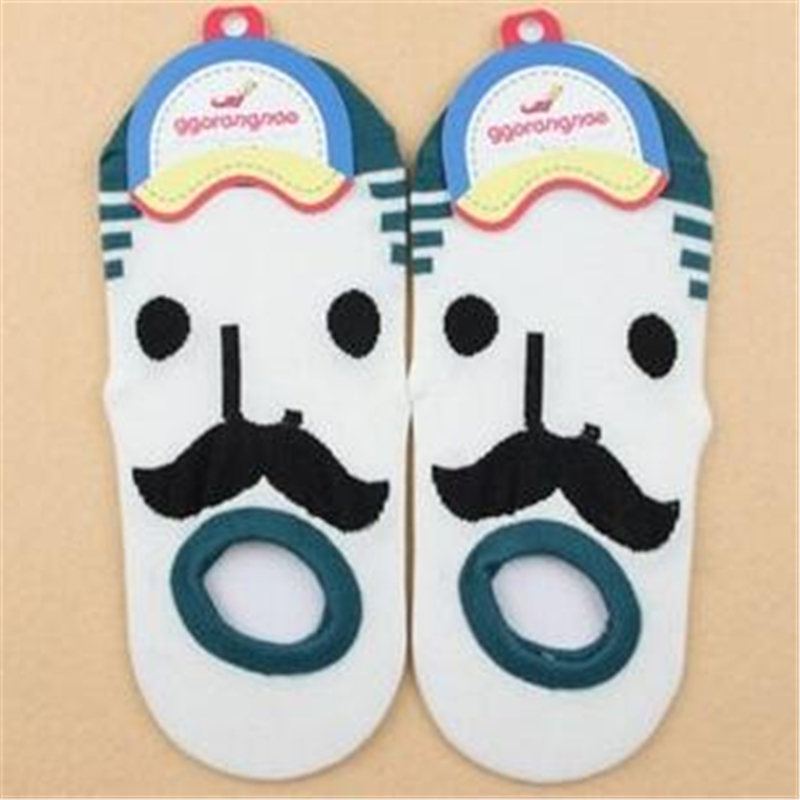 Novelty Men And Women Short Ankle Socks Creative Face Expression Cartoon Socks Cotton Couples Sport Ship Socks Shallow Mouth Sox