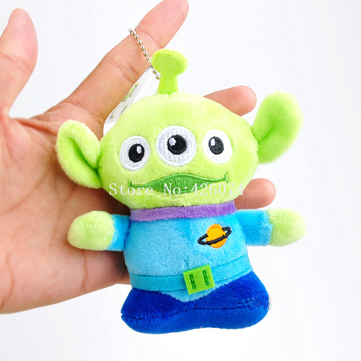 New Toy Story Alien Plush Keychains Mini 13CM Kids Stuffed Animals Toys For Children Gifts toy story bunny toys