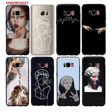 For galaxy s10 plus s10e case Mona Lisa Art David lines soft silicone Phone Case cover For samsung galaxy s6 s7 edge s8 s9 plus