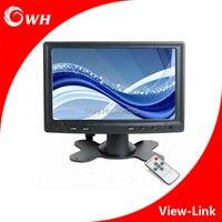 CWH YC702 мини 7 TFT светодиодный монитор ЖК дисплей Экран Дисплей PC компьютер автомобиля мониторы CCTV дома Камера Системы монитор с VGA AV BNC
