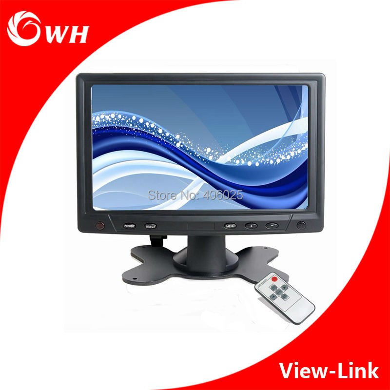 "CWH-YC702 Mini 7"" TFT LED Monitor LCD Screen Display PC Computer Car Monitors CCTV Home Camera System Monitor with VGA AV BNC"