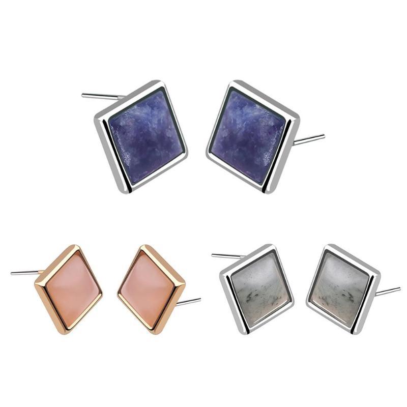1Pair Fashion Crystal Geometric Square Ear Stud Earring Women Wedding Party Gift