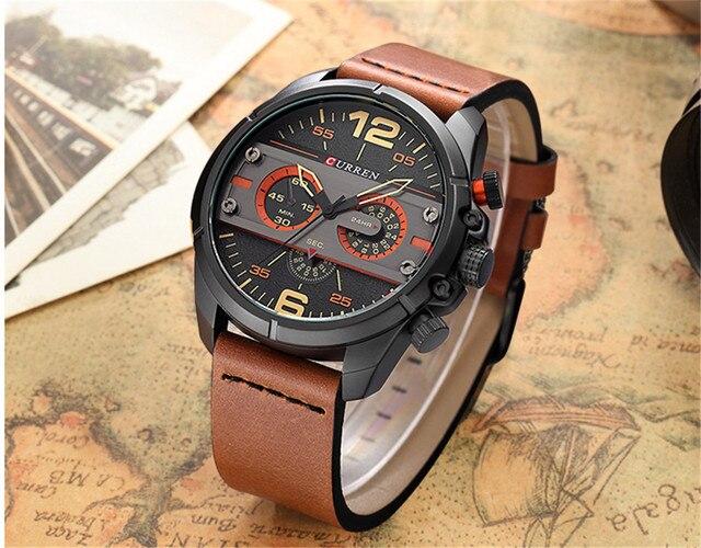 2016 CURREN Hombres Reloj de Cuarzo Relojes de Primeras Marcas de Lujo Famoso Reloj Hombre Reloj Reloj Luminoso reloj Masculino Del Relogio 4