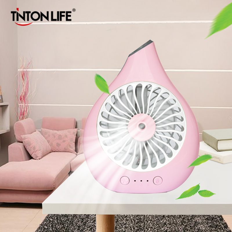 TINTON LIFE USB Portable Handheld Small And Exquisite Desktop  Mini Fan Humidifier Unique Structure Fashionable handheld usb misting fan personal cooling humidifier portable mini desktop fans