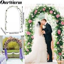 OurWarm Iron Wedding Arches Frame Decoration Backdrop Pergola Garden Flower Stand Balloon Arch White DIY Party Decor