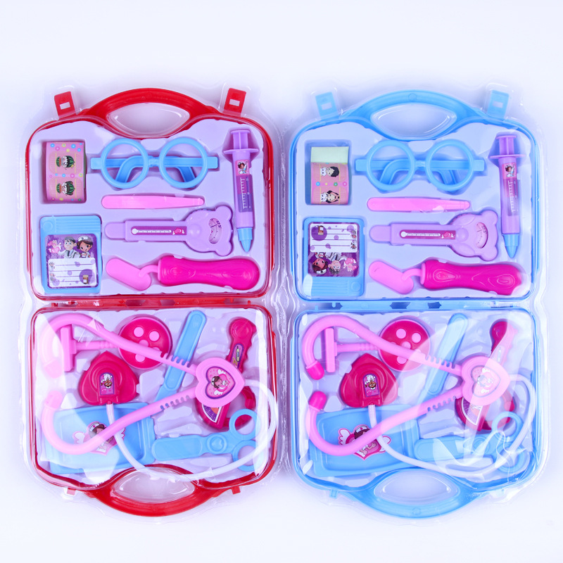 Kids Doctor Pretend Play Toys Luggage Kits For Children Medical Educational Box Light Role Play Pretend Toys Baby's Gift