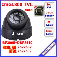 Dome Camera Cmos 800tvl Cctv Camera With Ir Cut 24led Indoor Security Z401C