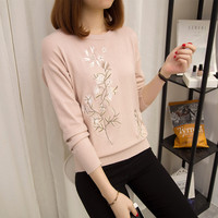 5766 Film Sets The New Women S Clothing Collar Embroidered Sweater 1 F 30 Yuan 15