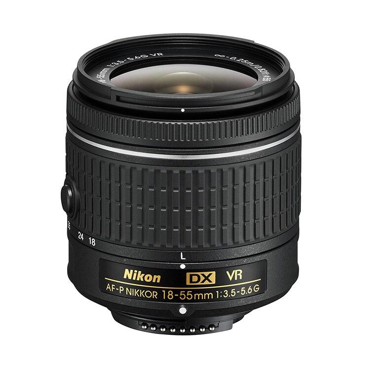 Paquete a granel (caja blanca)  Nikon AF P DX NIKKOR 18 55MM F/3,5 5,6G VR lente para D3200 D3300 d3400 D3500 D5500 D5600-in Lente de cámara from Productos electrónicos    1
