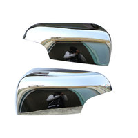 Zlord 2Pcs/Set Car Chrome Rear View Mirror Cover Rearview Mirror Stickers for Ford Everest Endeavour 2016 2017 Accessories