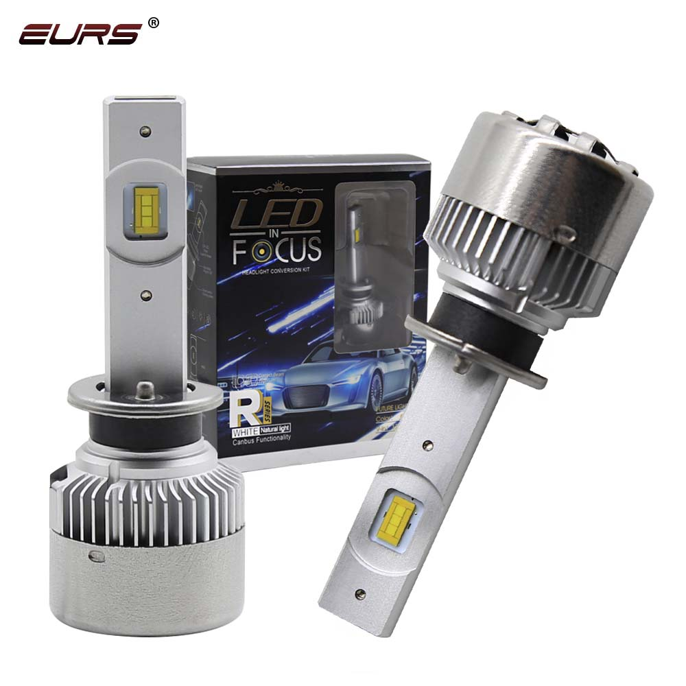 EURS огни автомобиля H7 7200LM H11 светодиодный Canbus лампы автомобильные лампы для передних фар H4 H1 H3 H8 9005 9006 HB3 HB4 9012 турбо светодиодный лампы 12V 24V R3