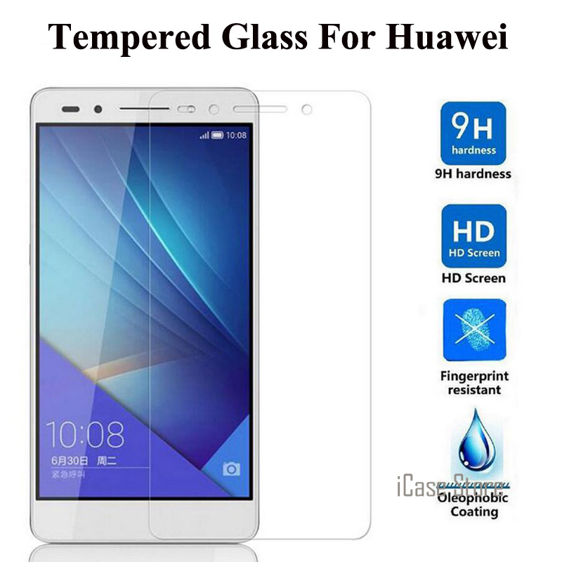 Ultra-thin 2.5D 9H Premium Tempered Glass Film Screen Protector for HUAWEI Honor 7 3C 3X 4C 4X Ascend P6 P7 P8 Lite G7