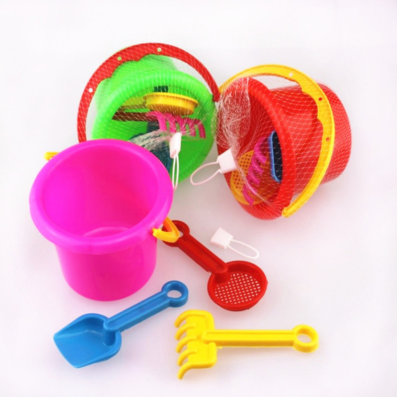 4pcs/lot Beach Bucket Summer Toys Play Sand Water Toys Tool Swimming Pool Bathing Beach Party Childs Play Kids Bath Toy
