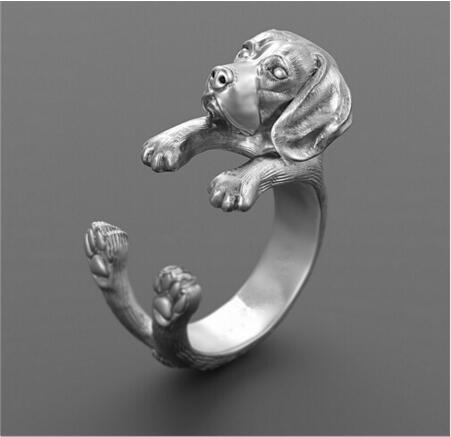 Drop shipping-3D Retro Beagle Ring