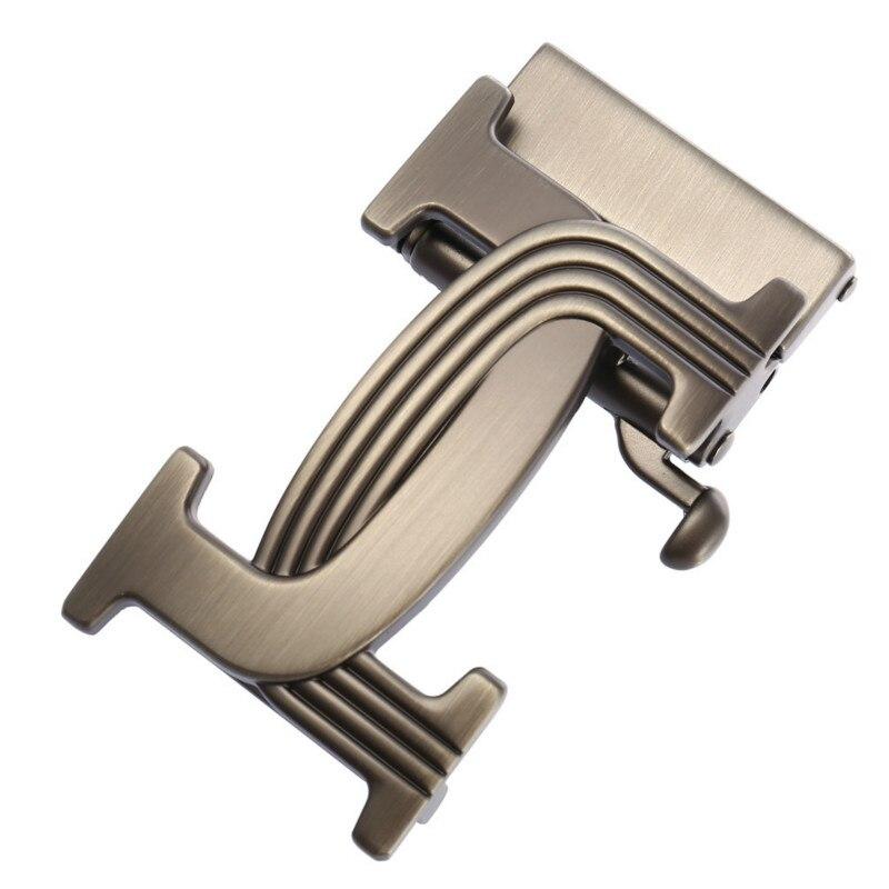 Genuine Men's Belt Head, Belt Buckle, Leisure Belt Head Business Accessories Automatic Men Buckle Width 3.5CM LY136-22005