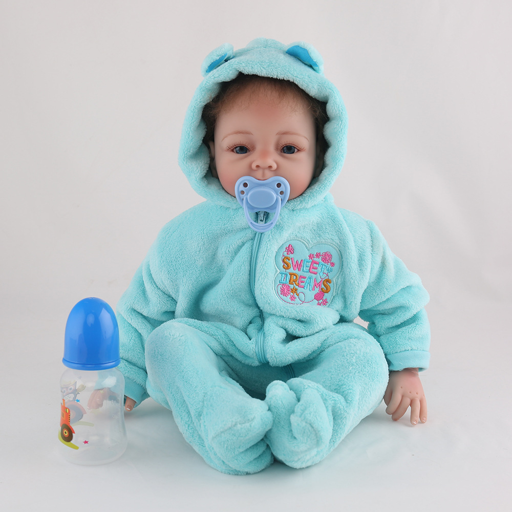 22 inches Handmade Girl Baby Reborn Dolls Bebe Lifelike Silicone for Girls Christmas Gifts Toys