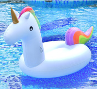 2018 Huge Swimming ring inflatable pegasus /Swimming pool floats Adult inflatable flotador Animals Unicorn Beach float