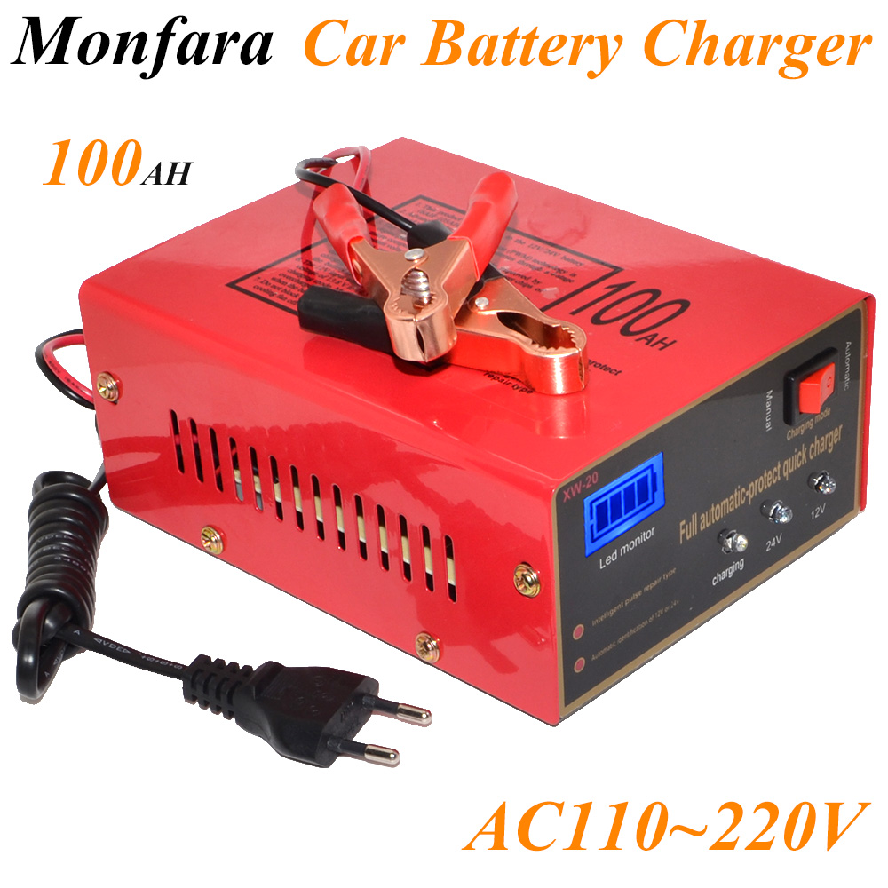 12V/24V 10A 6-105AH Universal Car Battery Charger Motorcycle Battery Charger Lead Acid Battery Charger Free Shipping 12002755 220v to dc 24v battery charger for lead acid battery
