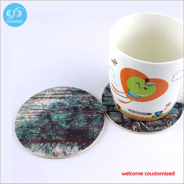 disposable coaster customized paper drinks coaster coffee coaster