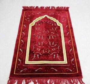 "Image 3 - 2017 חדש שמיכת תפילת שטיח תפילה מוסלמי אסלאמי MashaAllah Travelling ייחודי/שטיח/שטיחים סאלאט Musallah 70*110 ס""מ"