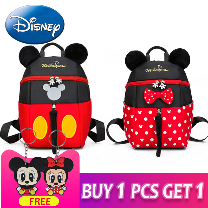 Children Kindergarten Boy Girl Mickey Mouse Baby Kids School Book Bags Backpacks