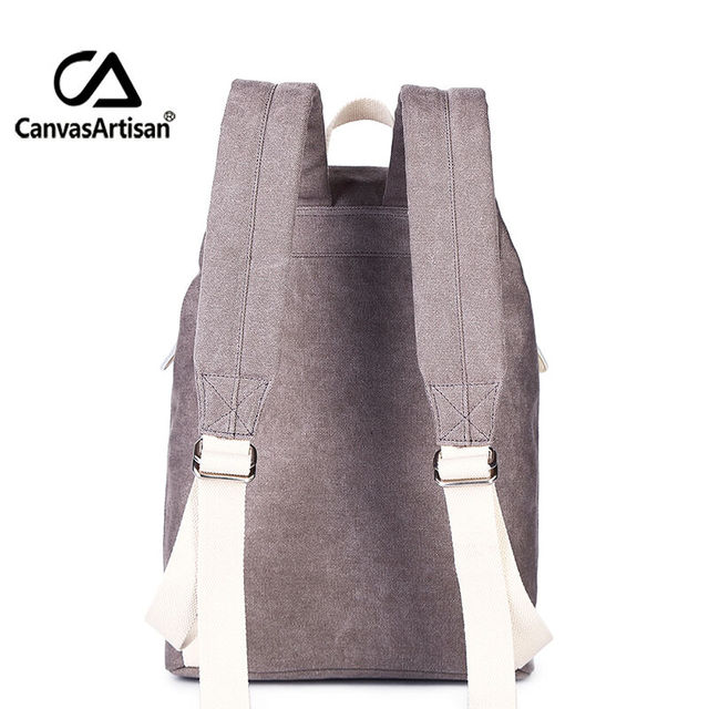 Canvasartisan Top Quality Canvas Women Backpack Casual College Bookbag Female Retro Stylish Daily Travel Laptop Backpacks Bag 2