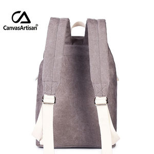 Image 3 - Canvasartisan Top Quality Canvas Women Backpack Casual College Bookbag Female Retro Stylish Daily Travel Laptop Backpacks Bag