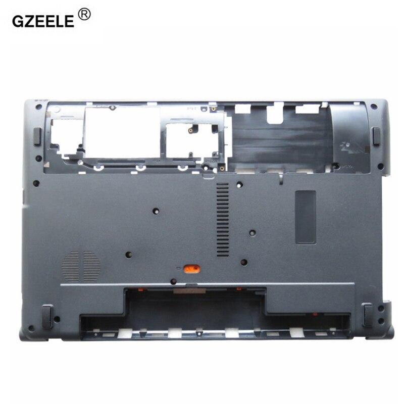 GZEELE nuevo caso inferior para Acer Aspire V3 V3-571G V3-551G V3-571 Q5WV1 V3-531 Base inferior cubierta portátil ordenador portátil caso
