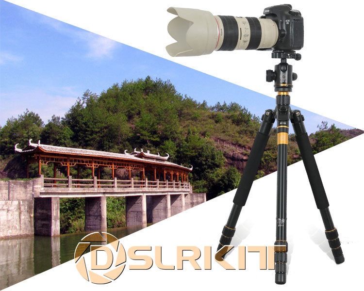 Pro Portable Aluminium Alloy Tripod Monopod+QZSD-02 Ball Head+Pocket Kit Q999 Q-999 free shipping qzsd q999 portable tripod