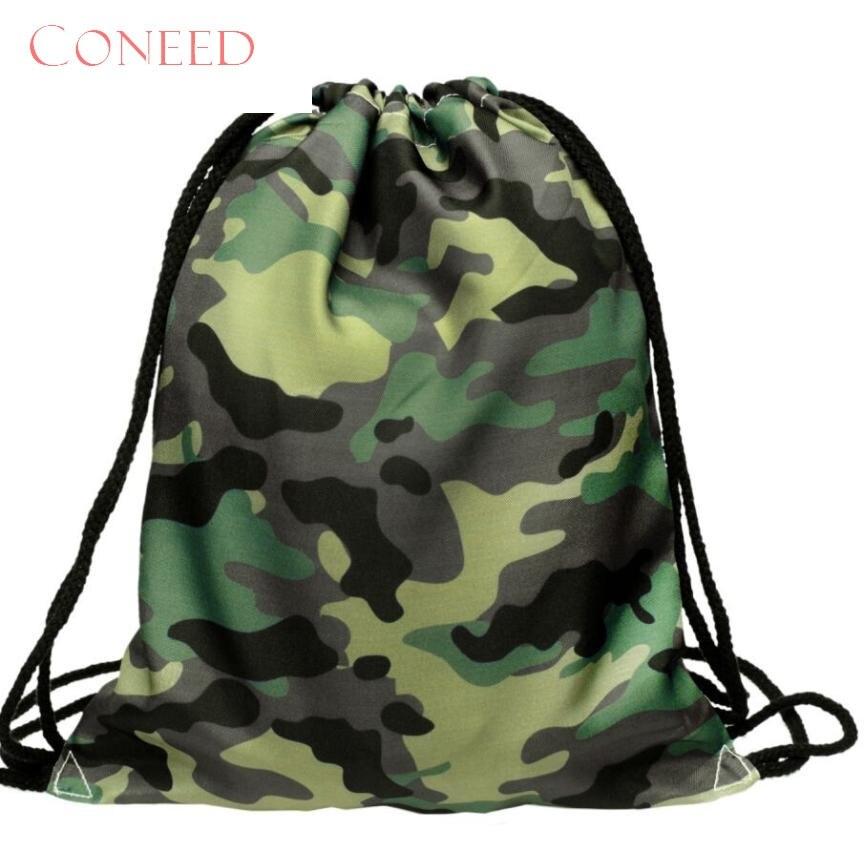 CONEED School Bags Fashion   Charming Nice Fashion Unisex Emoji  3D Printing Bags Drawstring  Oct16