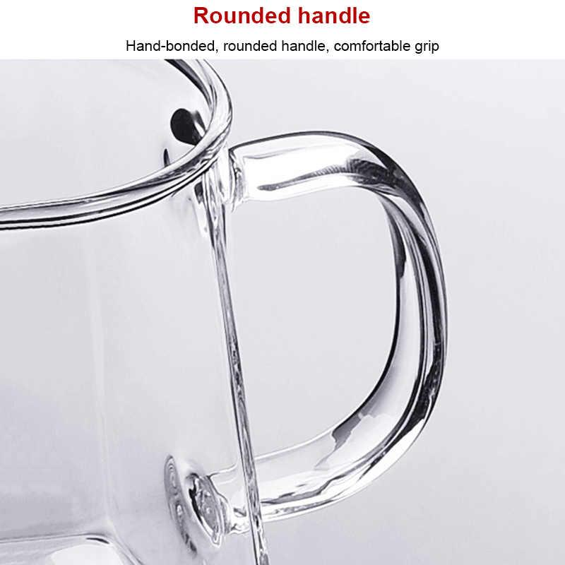 Термостойкий стеклянный чайник с нержавеющей стали фильтр для заварки чайник 350 мл TB продажа