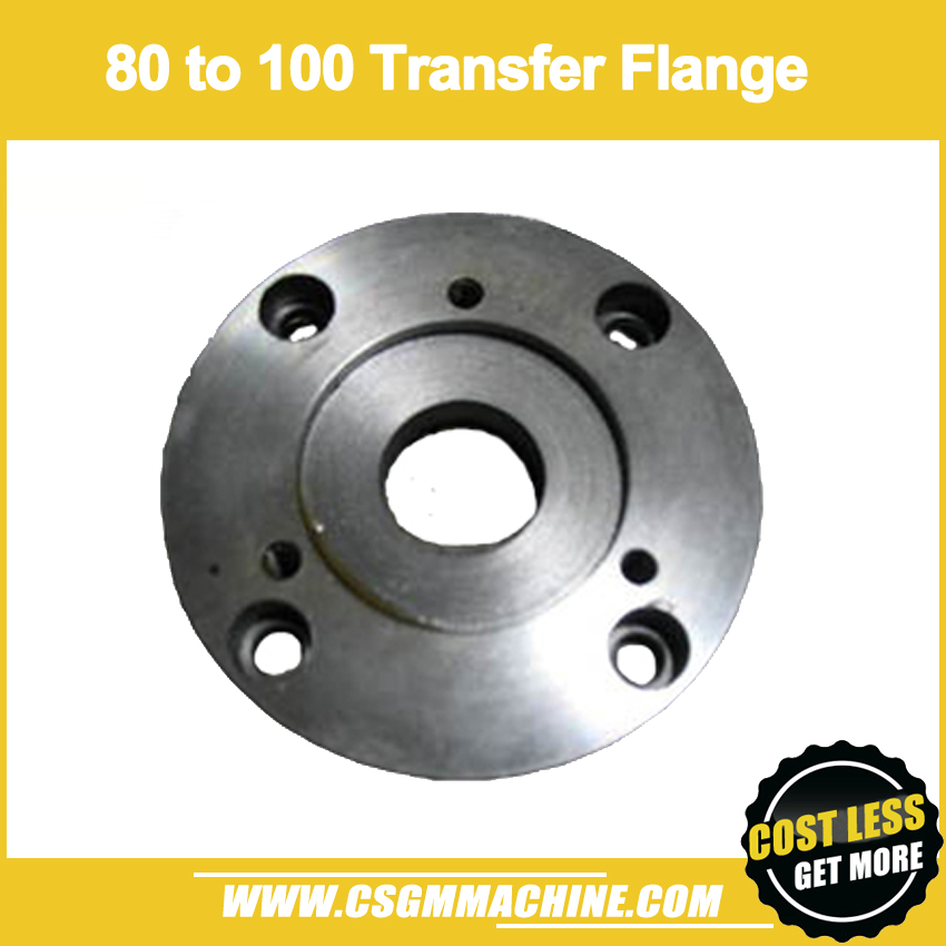 80mm to 100mm Convertible Flange 3 Jaw Chuck transfer to 4 Jaw Chuck Flange Small connector