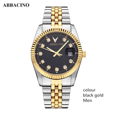 ABBACINO Luxury Three pointer Stainless Steel Waterproof Quartz Lovers Watches Hot Product Business Series Calendar Men