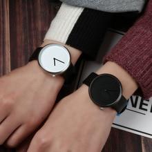 New Arrival Minimalist Style Wild Fashion Watches Men Women Sport Casual Quartz Wristwatch Soft Leather Strap Neutral Watch gift цены