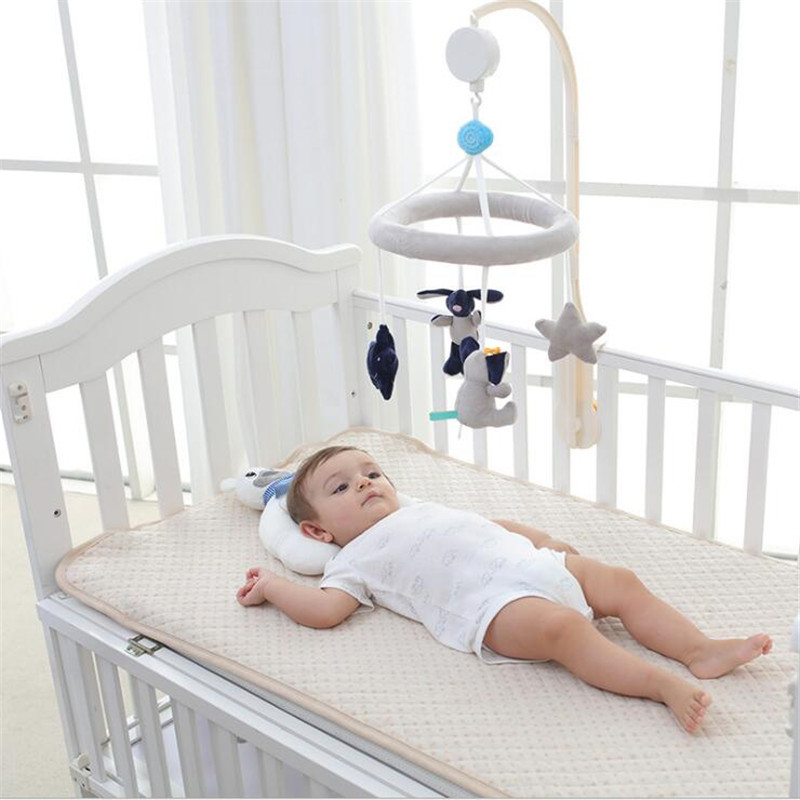 newborn Crib Music Box Wind Chimes Rattles baby Toys Infant Rotating Plush Cloth Bed Hanging Music Box Sleep Appease Toy infant toys plush bed wind chimes crib hanging bells mechanical music box mobile bed bell toy holder
